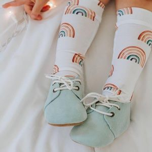 TEAL BABY OXFORDS